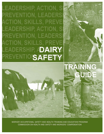 Cover of Dairy Safety Training Guide in English