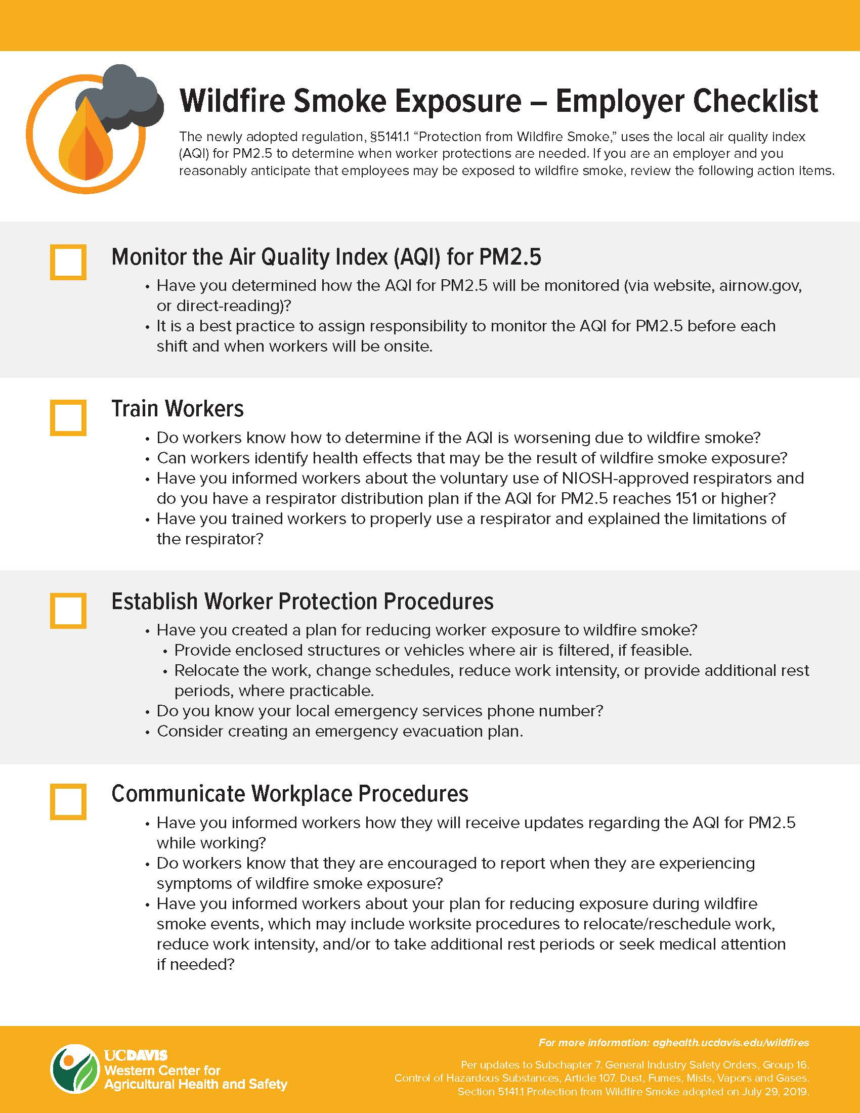 Employer Checklist English