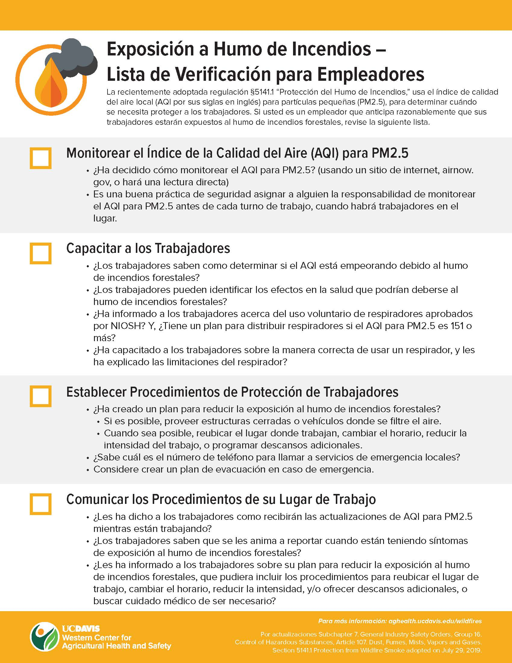 Employer Checklist Spanish