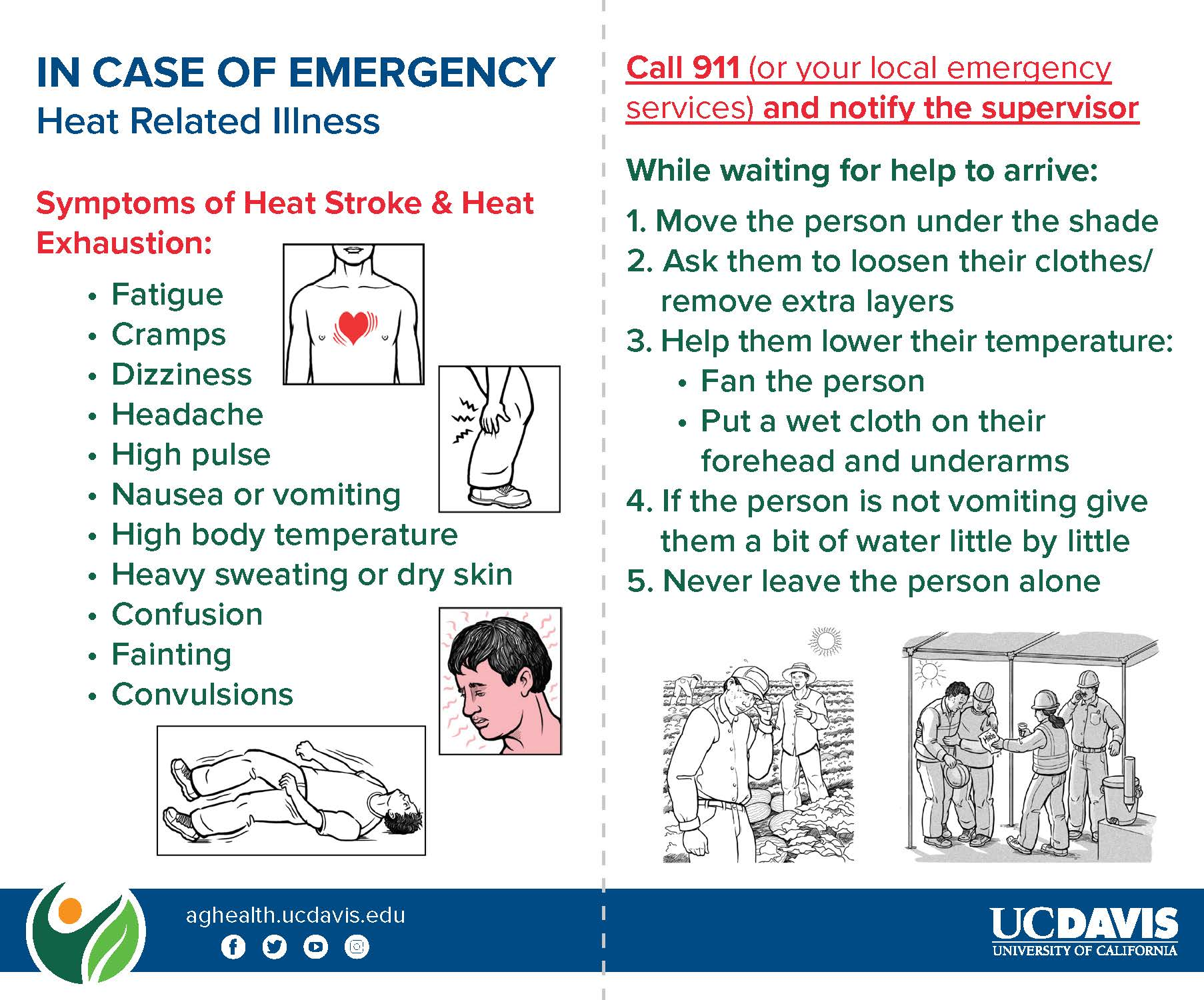 Heat Illness Emergency Card