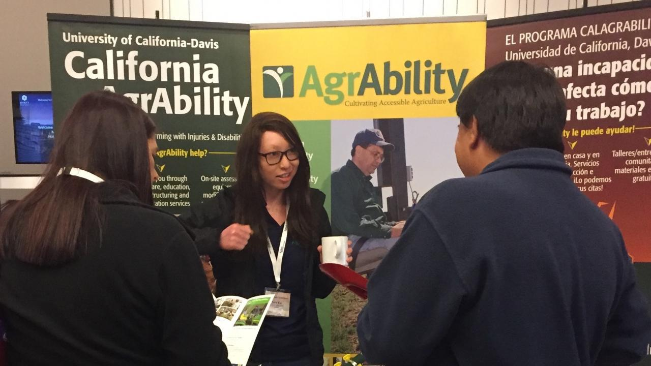 CalAgrAbility information table at conference