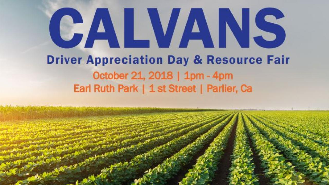 CalVans Driver Appreciation Event 2018