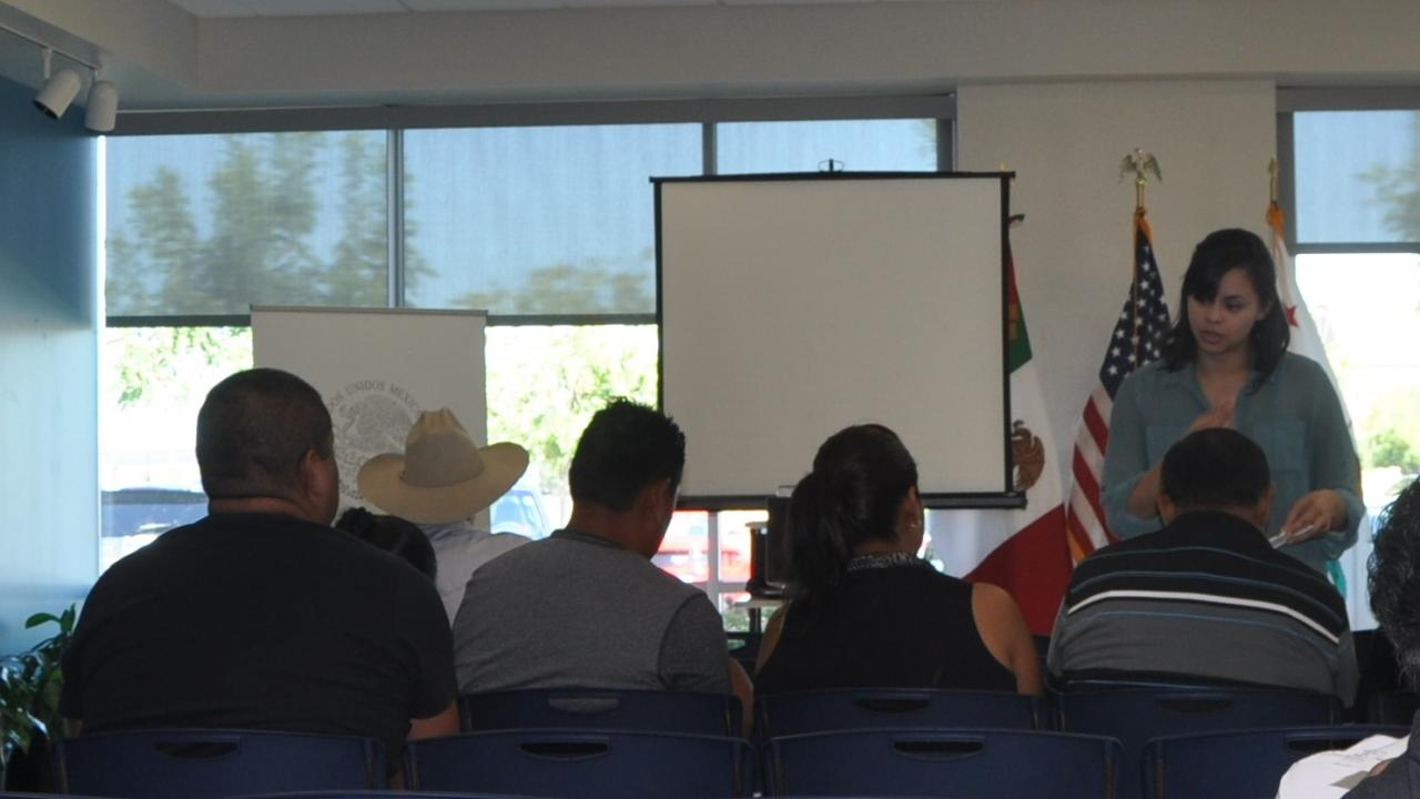 WCAHS staff member presenting at the Mexican consulate