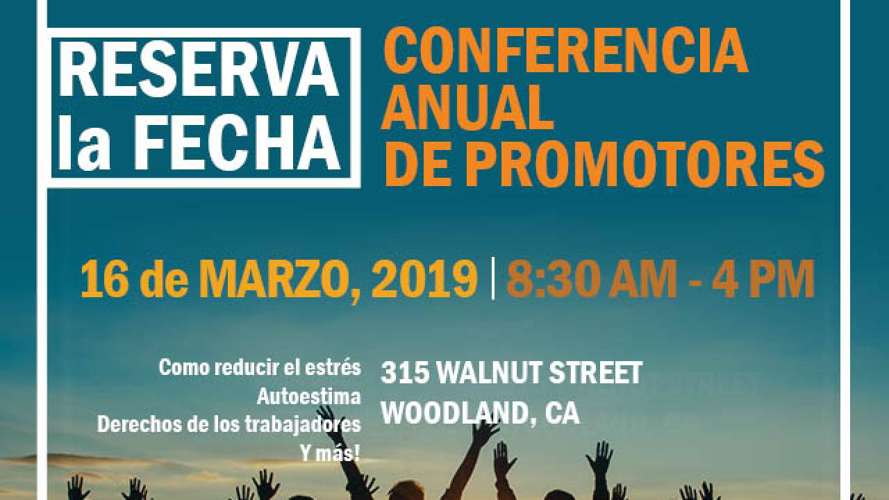 Annual Promotores Conference Save the Date