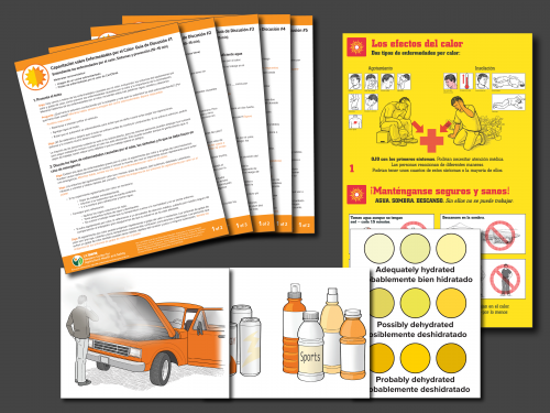 Heat Illness Training Materials Thumbnails in Spanish