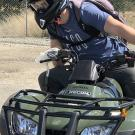 Person riding ATV