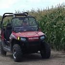 Farmer in ATV
