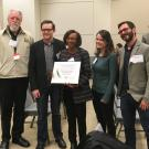 Biosolarization team with award