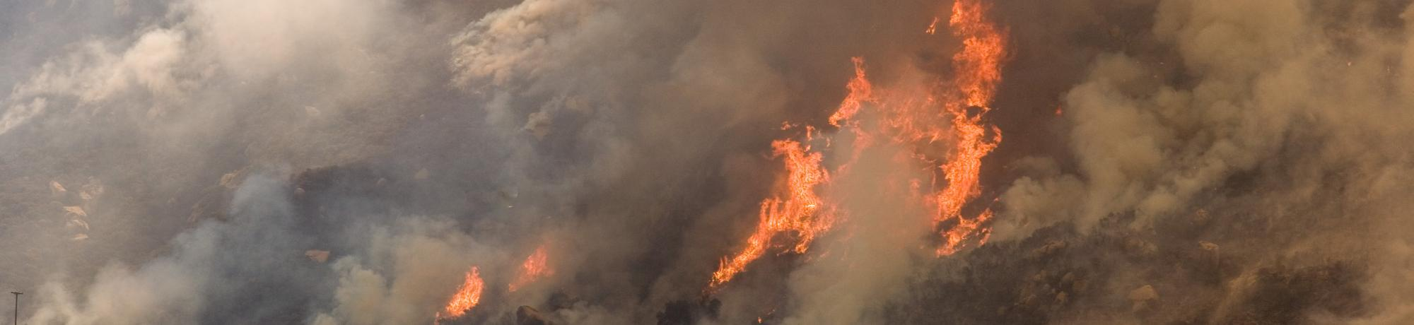 FEMA helicopter drops water on California wildfire